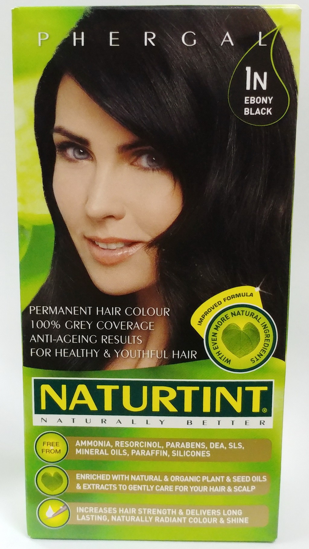 NATURTINT, 天然草本染髮劑-純黑色  1N