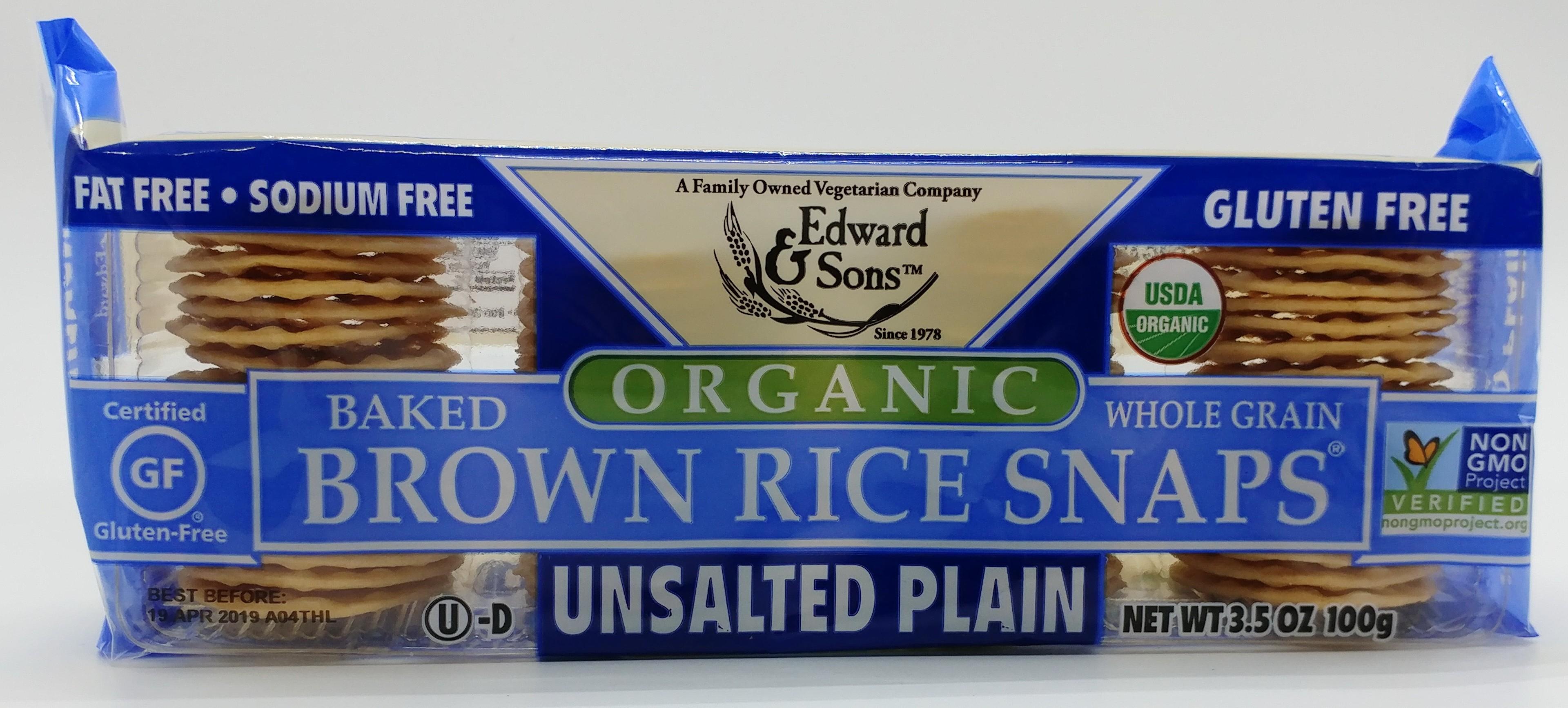 有機無鹽無麩全穀物糙米脆片 100g
